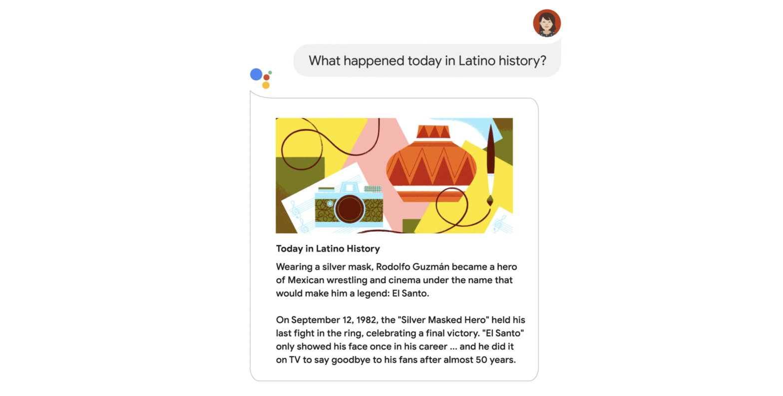 Google Assistant Latin History Month